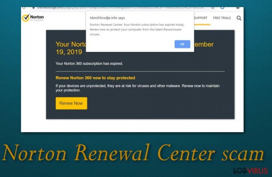 Estafa del centro de renovación de Norton