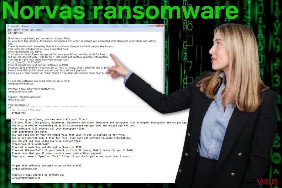 Virus ransomware Norvas