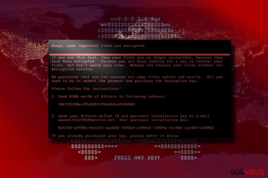 El virus Petya foto