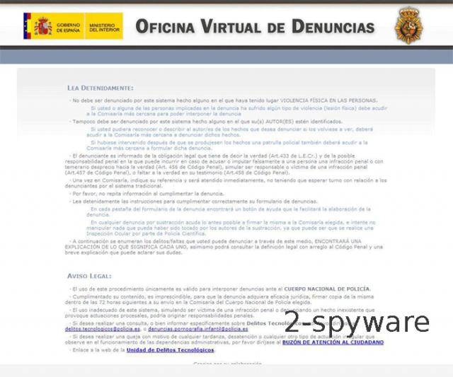 Oficina Virtual de Denuncias Virus foto