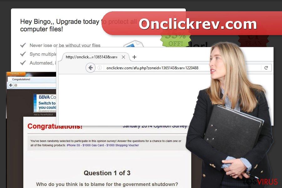 La imagen del virus Onclickrev.com