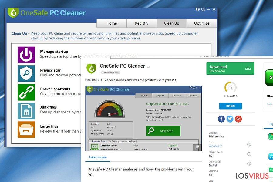 La imagen de OneSafe PC Cleaner