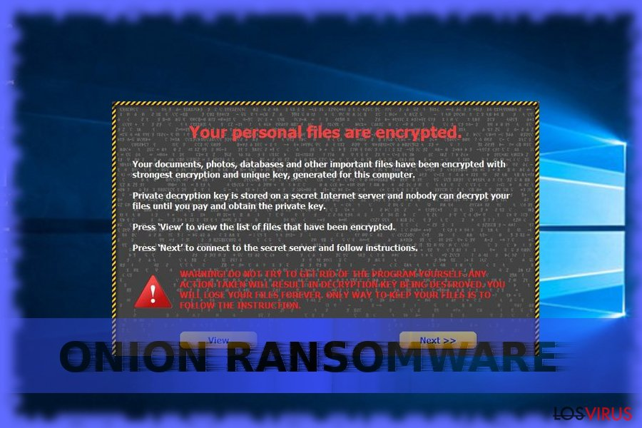 El ransomware Onion foto