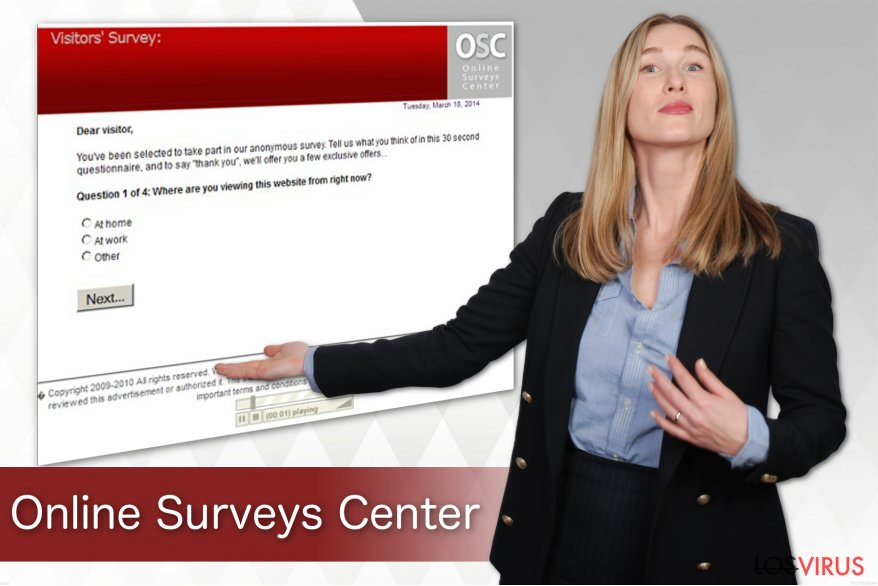 El virus Online Surveys Center foto