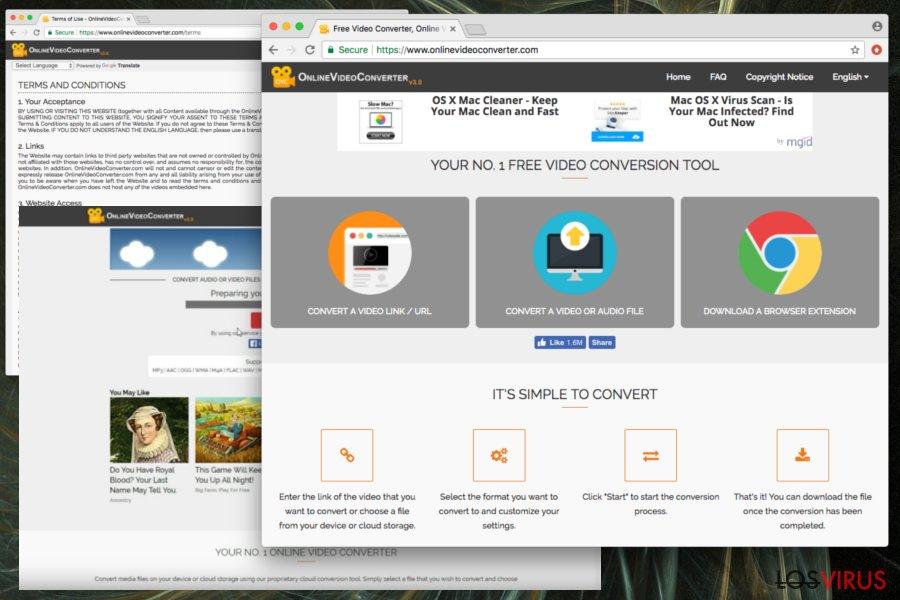 Displaying Online Video Converter