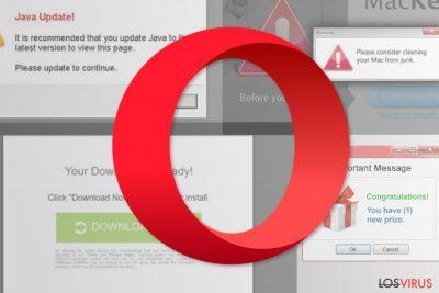 Virus de redirección de Opera