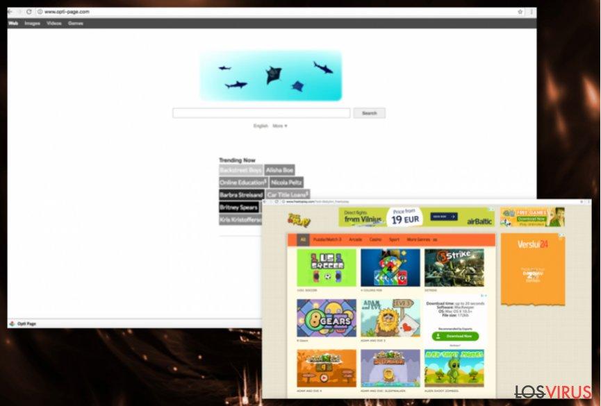 Redirecciones de Opti-Page.com