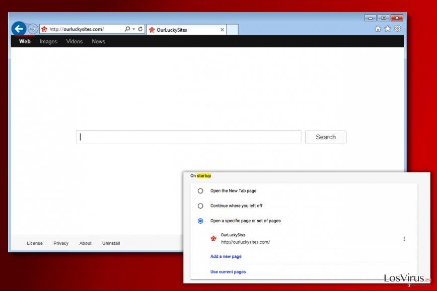 Virus Ourluckysites.com foto