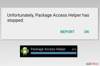 Ejemplos del error Package Access Helper