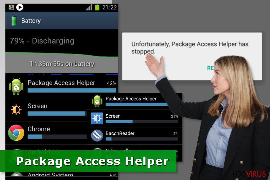 Pantallazos del problema Package Access Helper