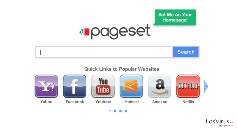 El virus Pageset.com foto