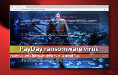 Pantallazo de la nota de pago del virus PayDay