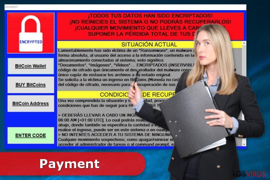 Imagen del virus Payment
