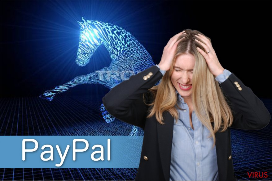 Ilustración del virus PayPal
