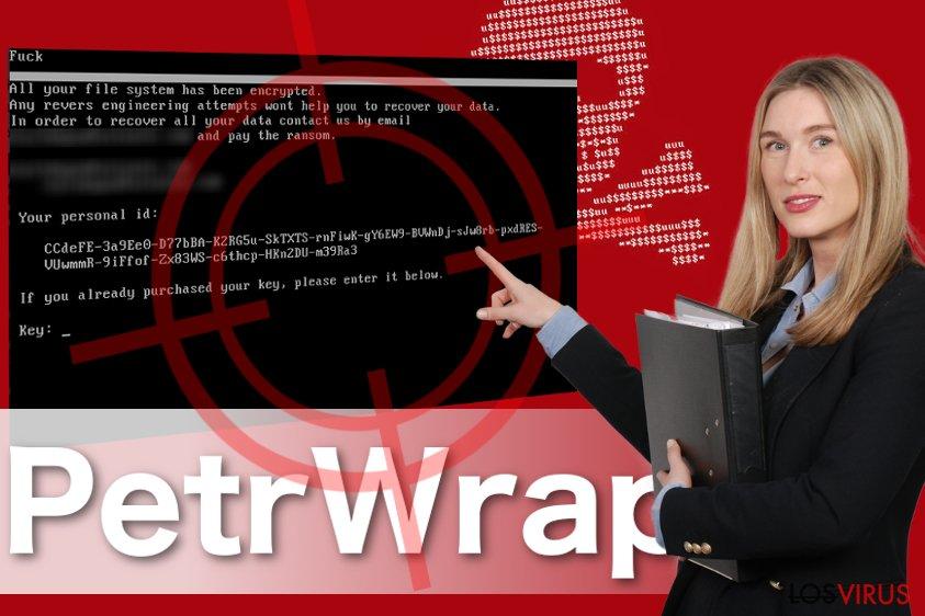 Imagen del ransomware PetrWrap
