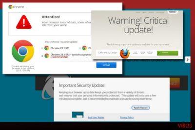 Ilustración del virus Phoenix Browser Updater