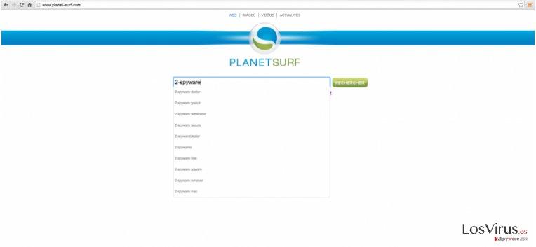 Planet-surf.com website example