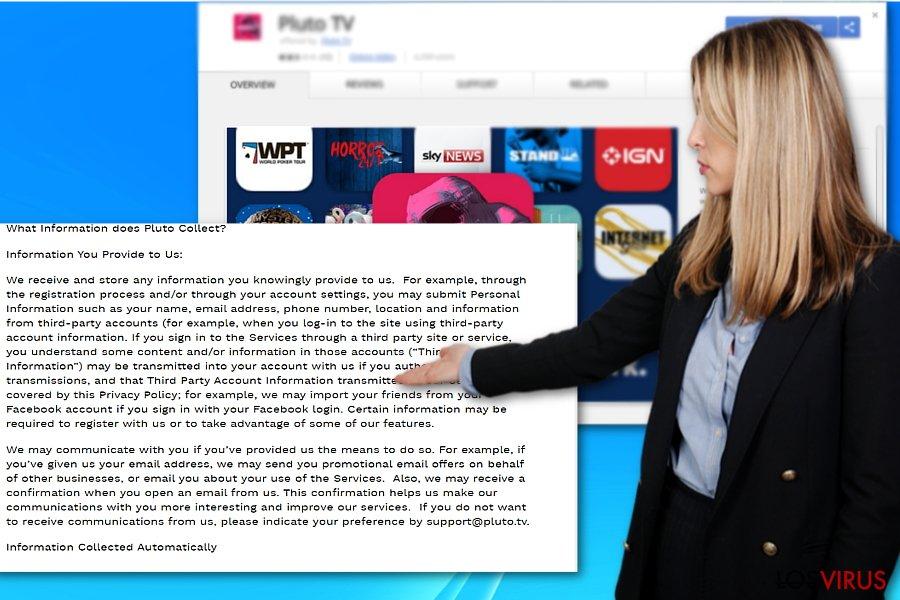 Ejemplo de Pluto TV