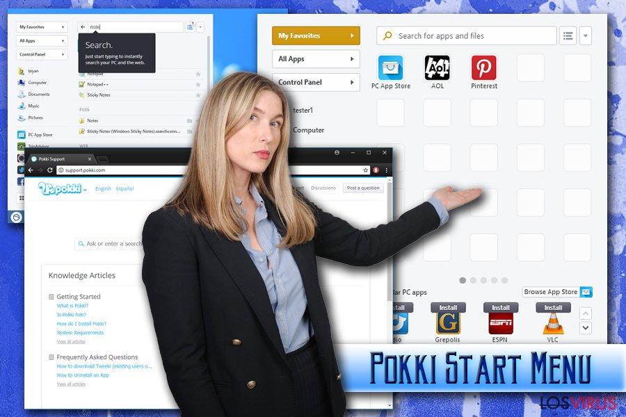 Virus Pokki Start Menu
