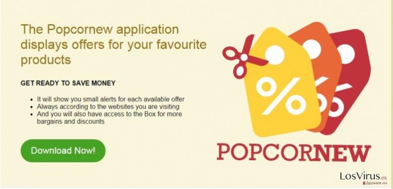 Los anuncios de Popcornew foto