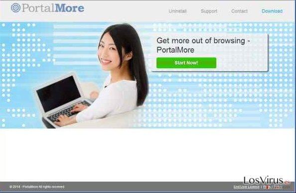 El adware PortalMore foto