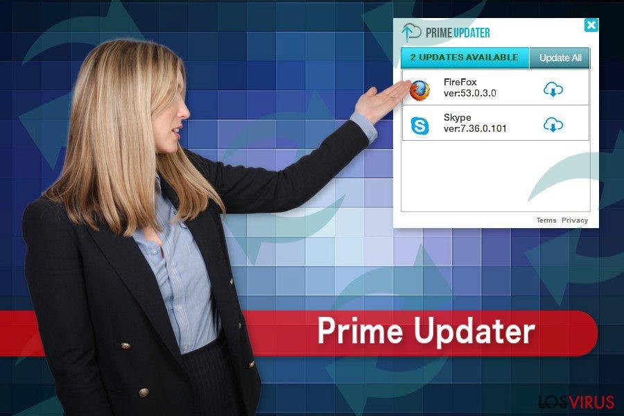 El virus Prime Updater