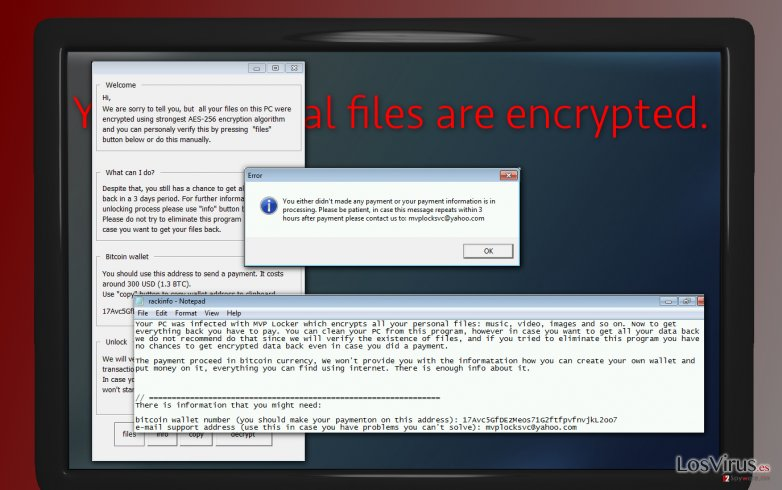 El virus RackCrypt