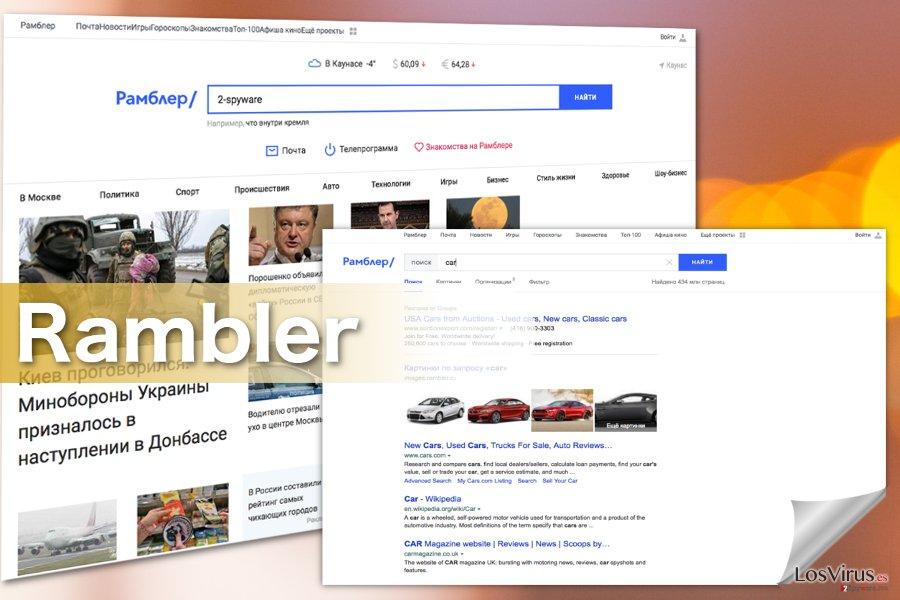 Imágenes del virus Rambler Search