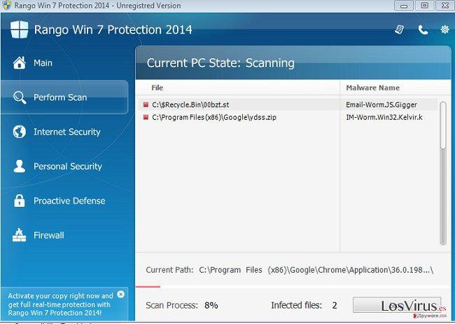 Rango Win 7 Antivirus 2014 foto