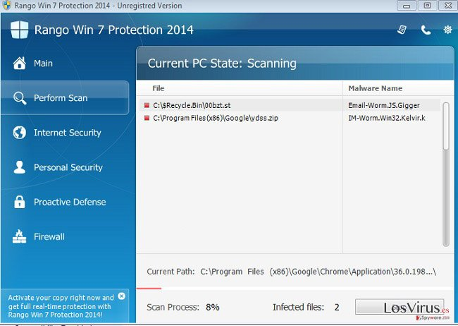 Rango Win 7 Protection 2014 foto
