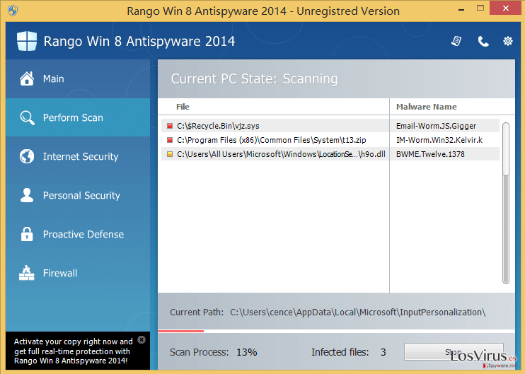 Rango Win 7 Antispyware 2014 foto