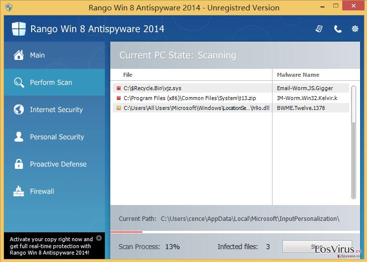 Rango Win 8 Antispyware 2014 foto