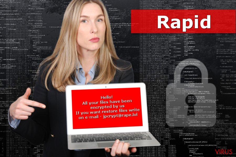Imagen del ransomware Rapid