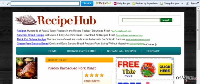 RecipeHub Toolbar foto