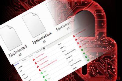 La imagen que ilustra los archivos encriptados por el virus RedBoot