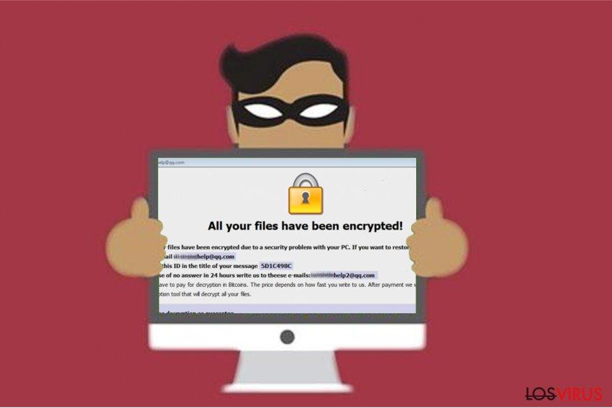 Imagen del ransomware Restorehelp@qq.com