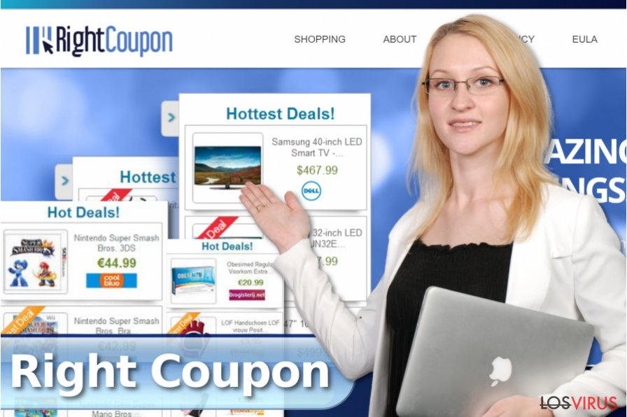 Los anuncios de Right Coupon