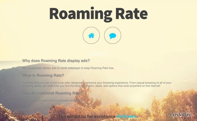 Los anuncios de Roaming Rate foto