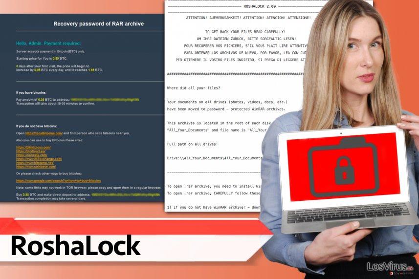 Virus ransomware RoshaLock