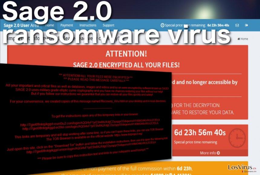 El virus ransomware Sage 2.0 foto