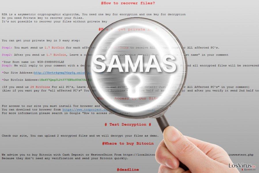 El ransomware Samas bajo lupa