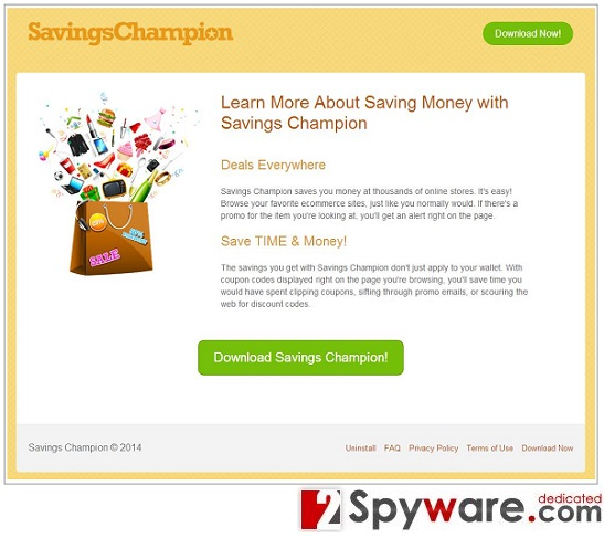 Los anuncios de Savings Champion foto