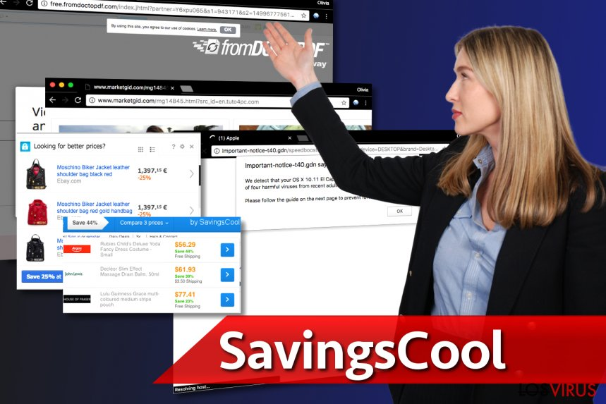 Imagen que muestra los anuncios de SavingsCool