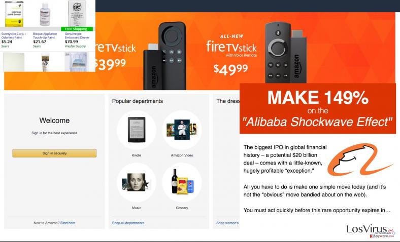 Screen maker ads on commercial website