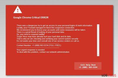 Pantallazo de Google Chrome Critical Error