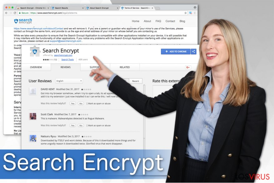 Ilustración de Search Encrypt