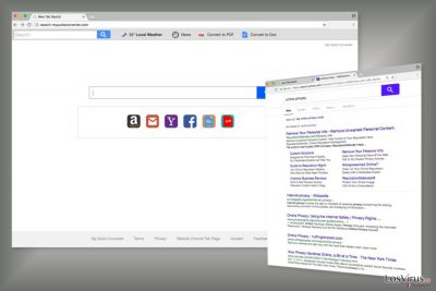 Ejemplo del motor de búsqueda de Search.myquickconverter.com