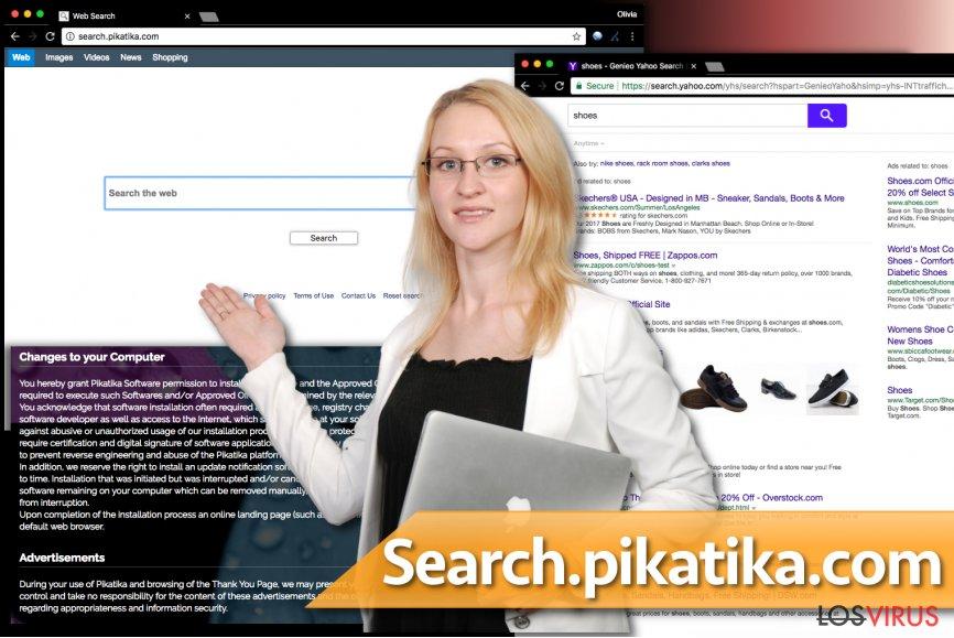 El virus Search.pikatika.com