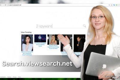Un pantallazo del hacker de navegador Search.viewsearch.net