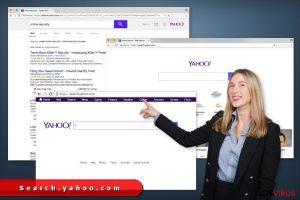 Las redirecciones de Search.yahoo.com